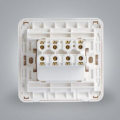 松下开关插座面板 智趣系列 86型四位四开四联双控wmz