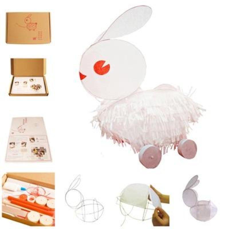 【小鸡啄米diy创意图片】传统兔子灯diy手工材料包 套
