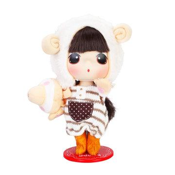 爱亲亲 冬己迷糊娃娃芭比娃娃女孩玩具迷你公主儿童仿真呆萌可爱洋