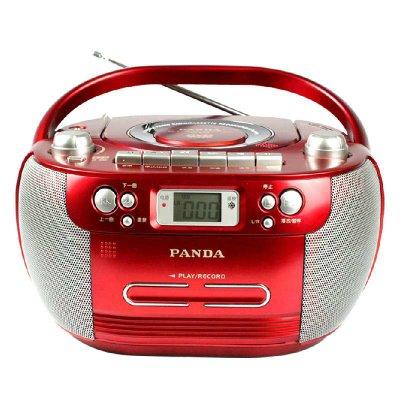 熊猫cd800 cd800 cd dvd 磁带 优盘播放机 录音机 收音机 cd机(红色