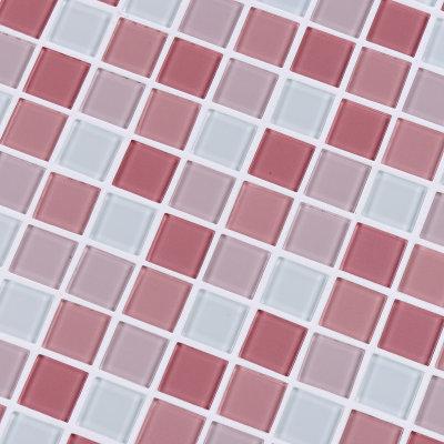 赛莱雅水晶玻璃马赛克卫生间瓷砖电视机背景墙泳池厨房拼图拼花(粉色