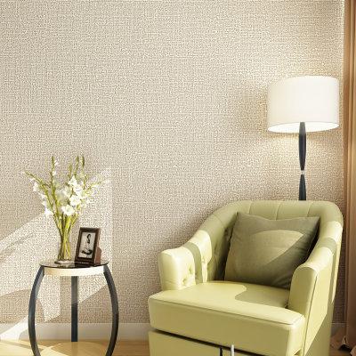 睐可单色现代简约素色无纺布发泡植绒墙纸 仿硅藻泥壁纸 客厅卧室(米