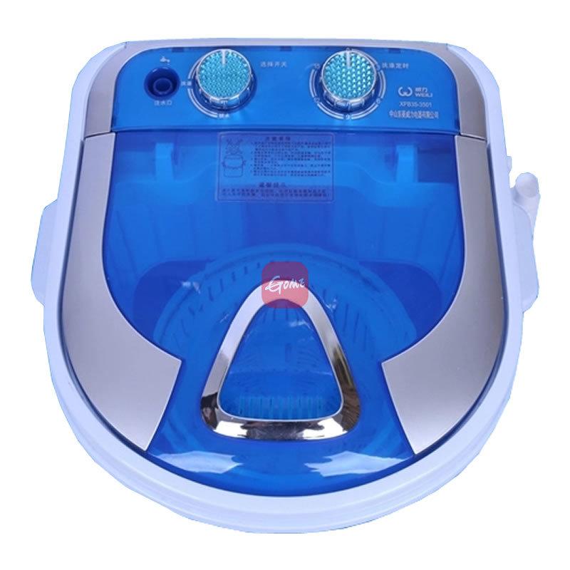5公斤单桶洗脱两用迷你洗衣机(蓝)全铜电机洗脱一体机
