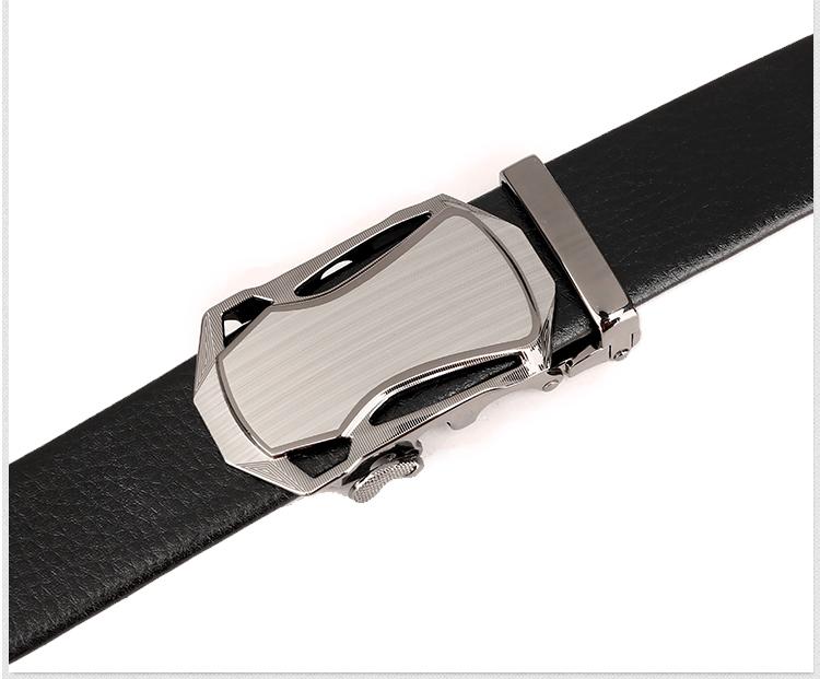 迪阿伦 男士腰带皮带仿皮自动扣腰带合金扣头汽车头皮带