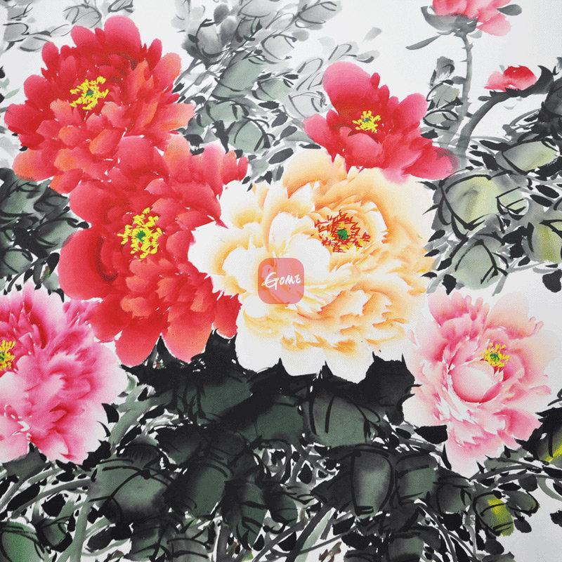 墨香阁 花开富贵 牡丹画 六尺 水墨画 纯手绘 国画