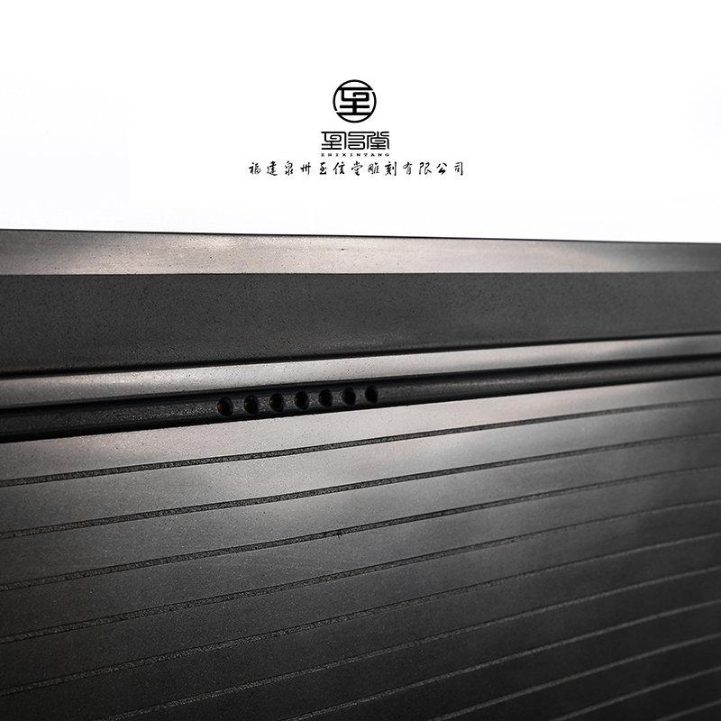 天然乌金石茶盘 大号手工雕刻黑金石茶海精品石头茶盘