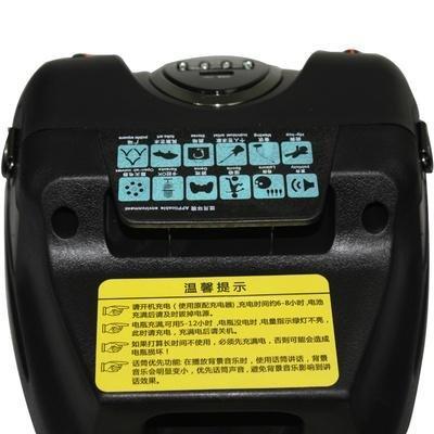 天谱a6 电瓶充电插卡广场舞音箱 黑色