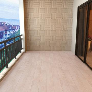 楼兰瓷砖 地面砖木地板木纹砖仿木地砖卧室地板砖田园风格防滑瓷砖