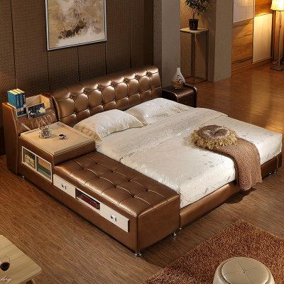 欧斯廷家具 皮床双人床单人床 实木床榻榻米婚床2899