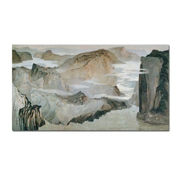 百雅轩吴冠中综合版版画《长江三峡(二)》风景油画现代装饰壁画