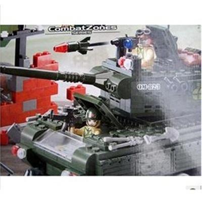 乐高式益智积木拼插积木乐高式积木启蒙积木军事--坦克823