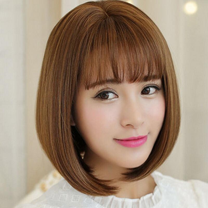 美元素假发女短发空气刘海bobo头气质女生波波头假头发女士假发套hg99