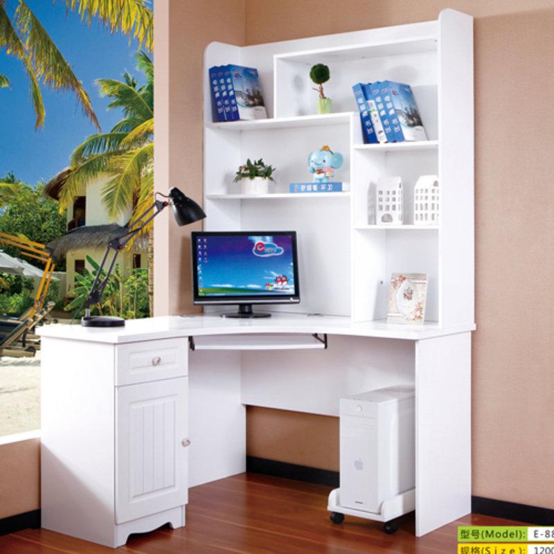 书桌欧式电脑桌 书桌书柜组合 简易写字桌 儿童学习桌 台式家用拐角书