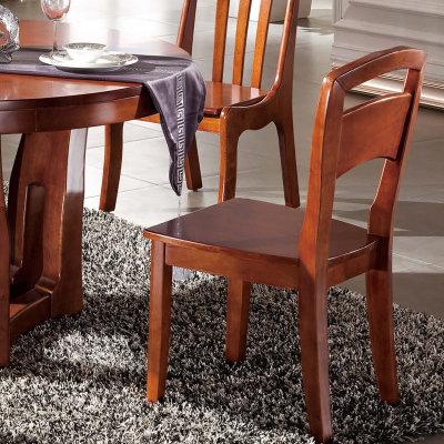 御品工匠 胡桃木实木餐桌 椅子组合 圆形桌多功能现代