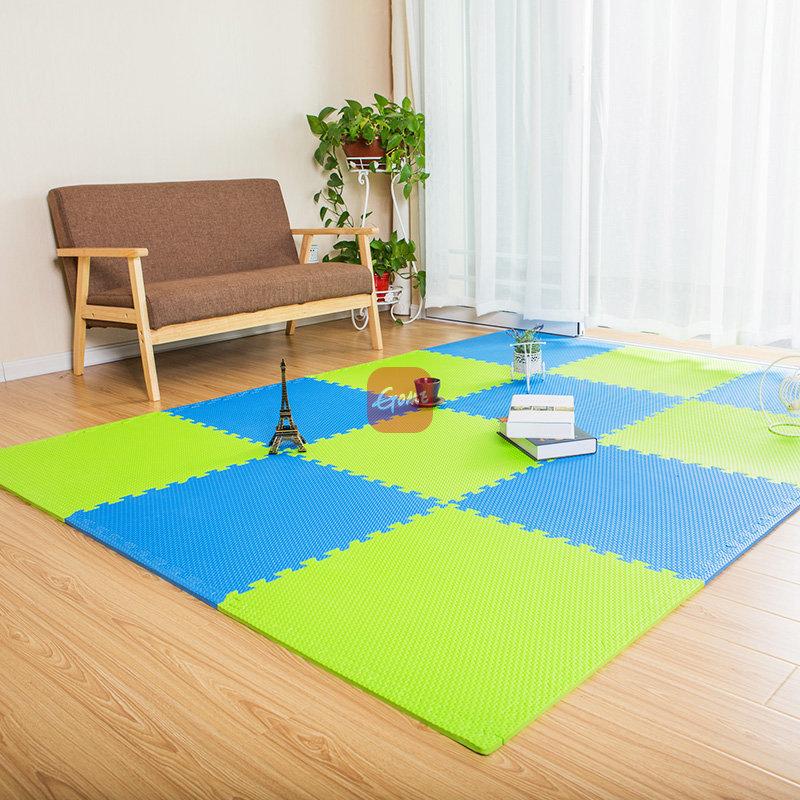 明德泡沫地板垫家用拼图爬行垫儿童卧室榻榻米拼接防滑垫大号 60×60