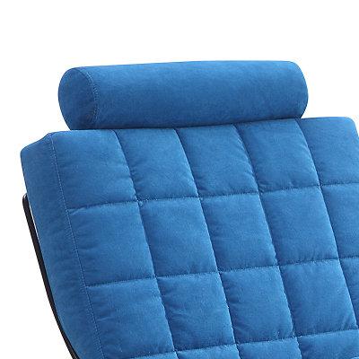 时尚简约欧式单人休闲懒人铁艺沙发电脑靠背椅 可爱家用椅(湖蓝色)