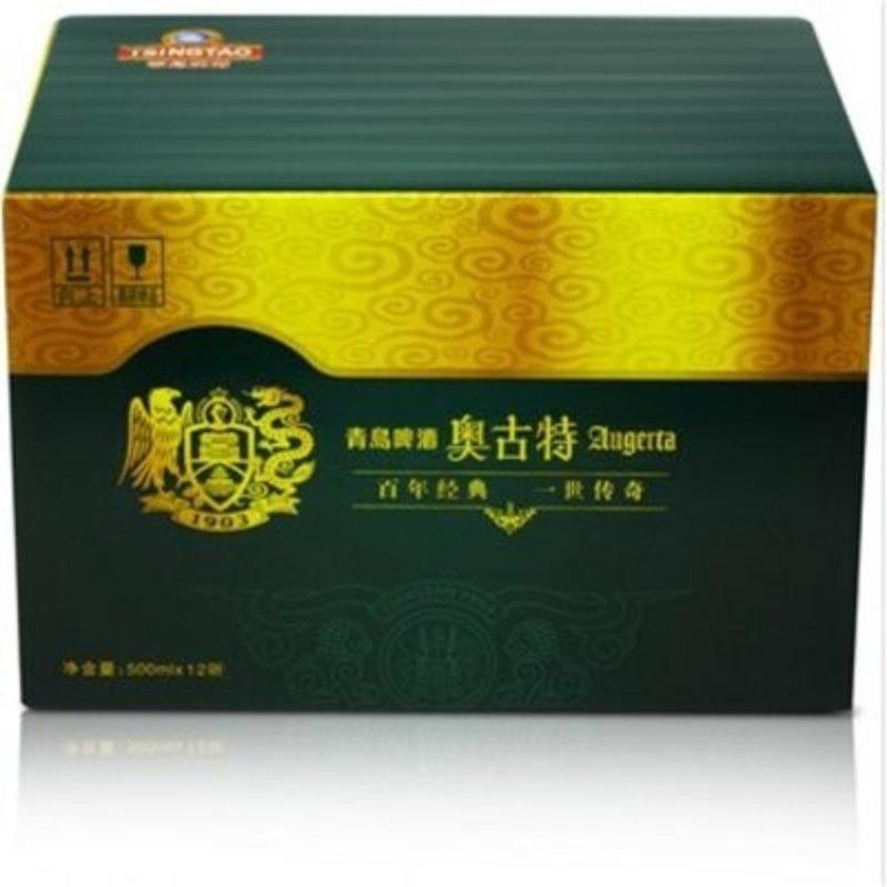 啤酒 青岛啤酒 奥古特啤酒500ml*12听 高端啤酒 麦香醇厚整箱包邮
