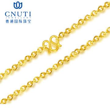 CNUTI 粤通国际珠宝 足金十字项链 约2.57克