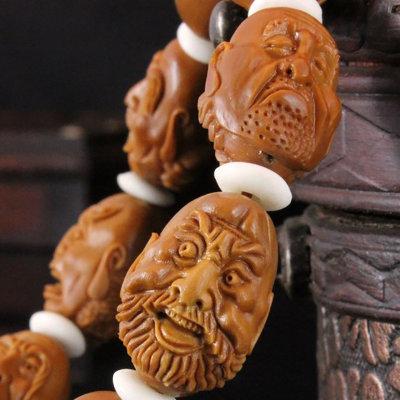 传统手工雕刻橄榄核【罗汉头】教程(李润岩原创)图片