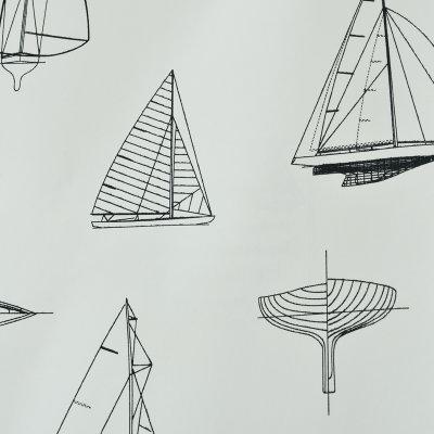 帝菲 儿童房男女孩卧室壁纸 卡通创意小帆船墙纸 环保