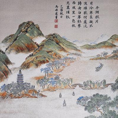 墨晟轩 西湖十景 真丝 织锦画 山水刺绣 送老外 长辈