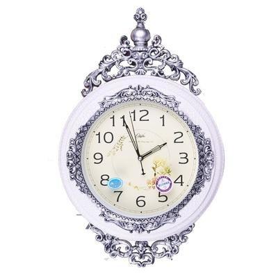康巴丝(compas) 欧式摇摆挂钟 静音 客厅 欧式 仿古 钟表2574(白色)