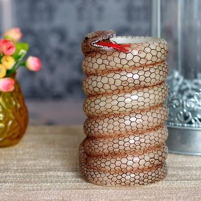 家印象盘蛇迎春特色礼品 定时香薰蜡烛