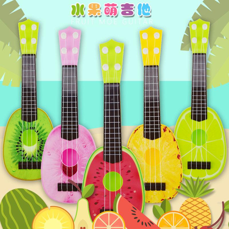 卡通儿童水果吉他尤克里里乐器塑料玩具(西瓜)