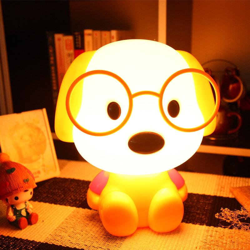 可爱动物卡通台灯小夜灯(黄色博士狗)图片