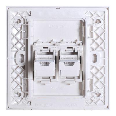 tcl罗格朗开关插面板 仕界二位电脑网线插座 二位电脑