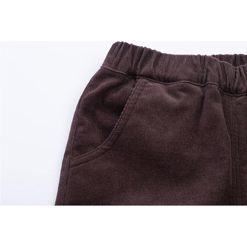 贝贝怡 2014新品婴儿服饰 灯芯绒长裤男女宝宝长裤143K026(深褐 90cm)第4张商品大图