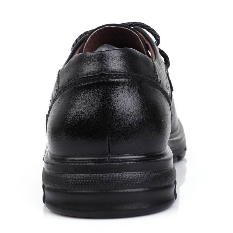 意尔康男鞋韩版时尚系带商务休闲舒适轻便男士单鞋真皮皮鞋男91824(黑色 91824-10 44)第4张商品大图